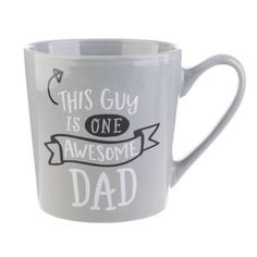 "The perfect gift for the man in your life, the Formations Awesome Dad Mug features the adorable ""This Guy is One Awesome Dad"". Wide handle offers a secure grip and large size holds all the coffee or tea needed to make it through the day. Father Birthday Gifts, Fathers Day Gifts, Gifts For Dad, Cute Gifts, Best Gifts, Own Business Ideas, Diy Mugs, Cute Cups, Mugs For Men"