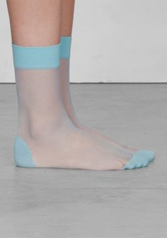 Soft and stretchy, these nylon socks are detailed with a polka dot design. Sheer Socks, Lace Socks, Ankle Socks, Fashion Socks, Fashion Heels, Steampunk Fashion, Gothic Fashion, Stockings Lingerie, Sexy Stockings