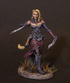 Female Elven Rogue - Miniature Lines 28mm Miniatures, Wood Elf, Rogues, Sculpting, Army, Wonder Woman, Princess Zelda, Superhero, Female