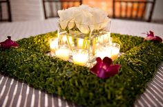 Image Detail for - Real Weddings: Tessa + Blake modern-wedding-centerpieces – Elizabeth . Table Decoration Wedding, Modern Wedding Centerpieces, Reception Decorations, Table Centerpieces, Event Decor, Table Decorations, Centerpiece Ideas, Greenery Centerpiece, Unique Centerpieces