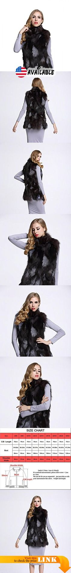 "B01KLKOZRC : TOPFUR Women's Real Fox Fur Vest Full Pelt Fur Gilet Waistcoat(XL). Made from high quality Genuine silver fox fur external with soft and elastic Polyester Lining which feels cozy on the skin and comfortable to wear. Available sizes of stylish fur outerwear excellently Fit well with your demand. Length:27.6""(70cm). Elegant stand collar with handsome hook design look stereoscopic and gorgeous as the cool model when wearing this practical and fashion fur coat"