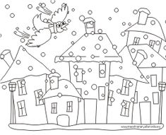 i gg merla School Coloring Pages, Colouring Pages, Christmas Colors, Winter Christmas, Landscape Art Quilts, Mandala, Creta, Punch Needle, Rug Making