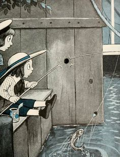 'The hole book' by Peter Newell. Published 1908 by Harper & Brothers, New York.  Description: While fooling with a gun, Tom Potts shoots a bullet that seems to be unstoppable. A hole on each page traces the bullet's path.