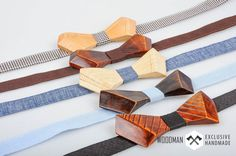 Wooden bow tie  Handmade bow tie  exclusive by WoodmanShop on Etsy