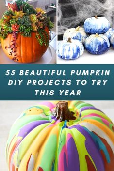 Fall has arrived which means it's time for apple cider, scarves, and, of course – PUMPKINS! Sure, carving jack-o-lanterns is a favorite pastime for many families, but why not try something different this year for your fall arts and crafts project? From real pumpkins to faux pumpkins, there are so many gorgeous DIY projects you can create this year. We found 55 of the best ones that will make your house an Autumnal oasis. Your house will be filled with beautiful fall decor by trying these fun…