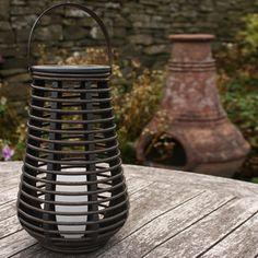 Tall Solar Powered Rattan Lantern Light, 25cm £9.99 | Huge Discounts - Lights4fun.co.uk