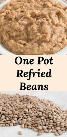Homemade Mexican Refried Beans Recipe - Easy recipe for authentic refried beans . - Homemade Mexican Refried Beans Recipe – Easy recipe for authentic refried beans starts with dried - Refried Pinto Beans Recipe, Mexican Beans Recipe, Mexican Refried Beans, Mexican Pinto Beans, Dry Beans Recipe, Pinto Bean Recipes, Homemade Refried Beans, Mexican Food Recipes, Recipes With Dried Beans