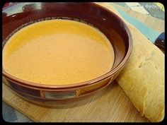 Lunchtime Hospitality:  Roasted Red Pepper and Zucchini Soup