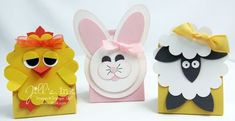 punch art Easter critters ... chocolate wrappers ... cuuuute!!! ... Stampin' Up!