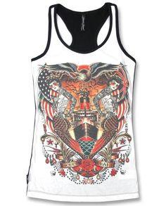 Liquor Brand Tank-Tops Hail Mary.Tattoo,Pin up,Oldschool,Rockabilly,Custom Style