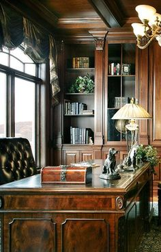 home office decor with beautiful table lamp; home office lighting ideas