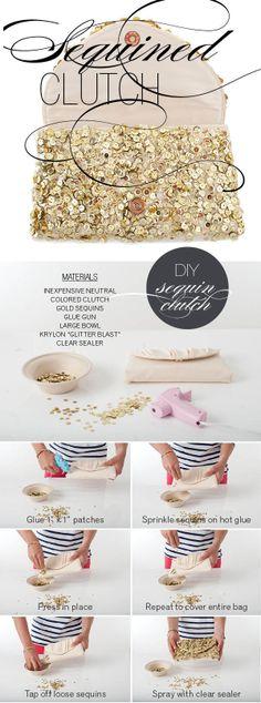 DIY sequin purse