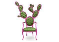 I can't decide if this chair is funny and I like it or funny and I hate it... you can't see it that well, but there are even little 'prickles' coming out of the tufts. Hah.