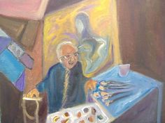 Bonnie Baird Mitchell (American) Painter Pinchas Litvinovsky
