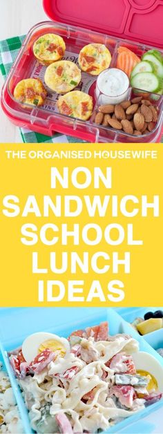 Every child is different and yours may not like the standard ham sandwich, so I have compiled some easy ideas and recipes to help spark some non-sandwich school lunch ideas. snacks, Non-sandwich School Lunch Ideas Lunch Snacks, Lunch Box Recipes, Baby Food Recipes, School Lunch Recipes, Box Lunches, Lunch Box Meals, Easy Recipes For Kids, Snacks Kids, Healthy Recipes