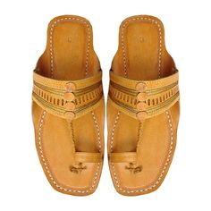 Jari and Punching Design Kolhapuri Chappal Men by kolhapurichappals on Etsy