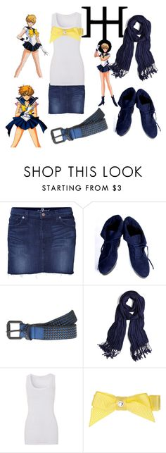 """""""Sailor Uranus"""" by tragedycore ❤ liked on Polyvore featuring Amara, 7 For All Mankind, HANDSOM, HTC and American Vintage"""