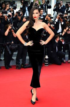 Adriana Lima inUlyana at the 68th Cannes Film Festival: Red Carpet Finale.