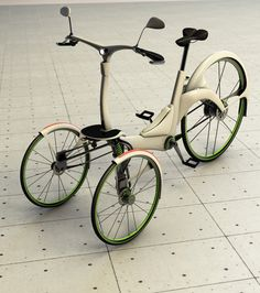 This electric assisted tricycle was designed to be a quick, reliable commuting alternative in the big city that will promotes a mentality of sustainability and eco-friendliness as well as a more active lifestyle. Microcar, Velo Cargo, Side Car, Electric Tricycle, Reverse Trike, Pedal Cars, Bicycle Design, Motorcycle Bike, Vintage Bicycles