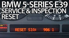 How to reset service reminder in BMW E39 (5-Series oil inspection)