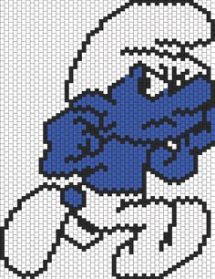 Grouchy Smurf bead pattern