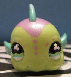 Littlest Pet Shop 2092 Green Purple Shimmery Puffer Fish   eBay