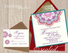 Eastern Splendor Invitation Set. $7.50, via Etsy.