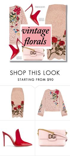 """Floral"" by drigomes ❤ liked on Polyvore featuring River Island, Alice + Olivia, Gianvito Rossi, Dolce&Gabbana and Franke"