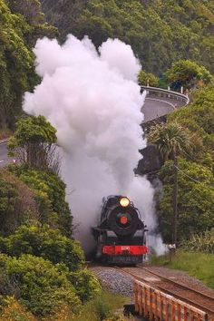 """Train journey, Christchurch - Invercargill, South Island (the days of steam !) About 9 hours - the overnight ferry landed you at Lyttleton & you'd catch the 'boat train"""" into Christchurch for brecky at the station & then all day on the train !"""