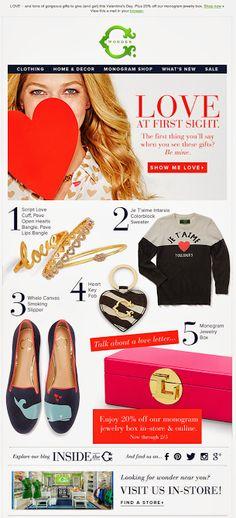 C Wonder Valentine's Day email 2014