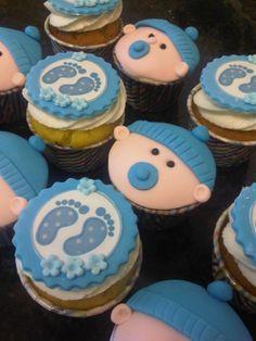 21st birthday cupcakes boy | Baby shower cupcakes - boy!