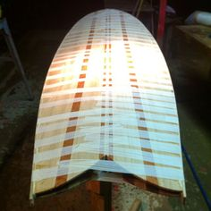 Day 2 - 7'0 Retro Fish - Deck skin has been glued onto frame and rail strips have started to go on! Going to take my time with the rail strips to get some nice cross overs on the nose and tail! Until tomorrow, keep those wood boards a buildin!!! #fish #surfboard #surfing #like #sun #beach #handmade #handcrafted #follow #ocean #wave