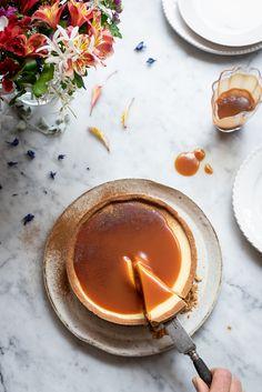Milk tart cheesecake with rum caramel   Dianne Bibby is a Johannesburg food stylist, recipe developer, and food blogger.