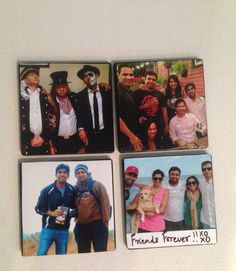Diy photo coasters , farewell gift for your best friend.