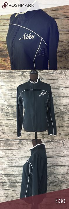 NWT Nike Black White Zip Sweatshirt Black and white nike zip up moc neck active sweatshirt. Super soft and stretchy material. Perfect for the gym or for everyday wear! Nike Tops Sweatshirts & Hoodies