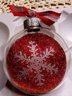 Encouraging Someone: Glass Christmas Ornament Tutorial