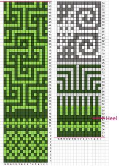 Ravelry: Love Socks by Sini Huupponen - Knitting Fair Isle Knitting Patterns, Fair Isle Pattern, Bead Loom Patterns, Knitting Charts, Mosaic Patterns, Knitting Stitches, Stitch Patterns, Crochet Patterns, Purl Bee