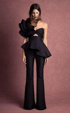 Johanna Ortiz Fall/Winter 2016 Look 39 on Moda Operandi Trend Fashion, Look Fashion, Runway Fashion, High Fashion, Fashion Show, Womens Fashion, Fashion Design, Formal Fashion, Fashion 2017