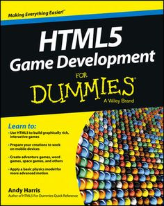 Game Development For Dummies. This book combines web development and game programming. PDF - Game Development - My Dev Book Basic Physics, Creating Games, Pong Game, Game Programming, Space Games, Adventure Games, Computer Technology, Computer Science, Word Games