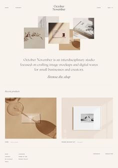 Clean, modern and warm design studio website and branding in modern neutral colors, elegant sophisticated graphic design and modern, simple layout. Web Design Trends, Homepage Design, Web Design Tips, Clean Web Design, Layout Design, Graphic Design Layouts, Custom Web Design, Custom Website Design, Simple Website Design