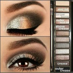 Brown eyes naked 2 palette look