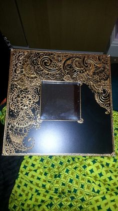 Mirror with henna designs as a gift