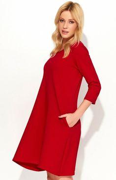cb92b7cda3 Makadamia M375 sukienka czerwona - Modne sukienki Makadamia - Sukienki na  wesele 2017 - Sukienki wieczorowe - Sklep