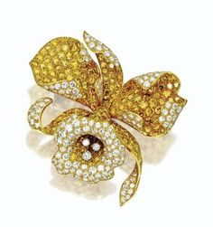 Diamond Orchid Brooch, Van Cleef & Arpels