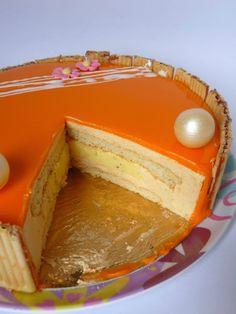 Entremet abricot - vanille - caneylle gourmandises