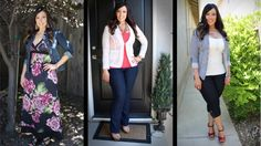 3 Summer Outfits for the Curvy Girl...she included links to the items she's wearing. YES.