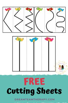 Free Airplane Cutting Printable - Dream Team Therapy