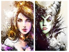 thehappysorceress:  Sleeping Beauty/Maleficent by Vincent Vernacatola