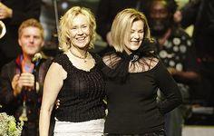 Agnetha Faltskog and Anni-Frid Lyngstad of Abba receive a lifetime achievement award.