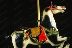 Glen Echo Dentzel Carousel Horse 2 1920s 4x6 Reprint Of Old Photo